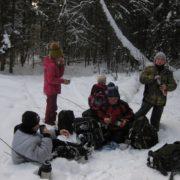 Зимний марш-бросок младшего отряда БПС