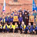 Георгиевский парад на Крутицком патриаршем подворье