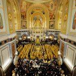 Литургия в день 10-летия интронизации Патриарха Кирилла в Храме Христа Спасителя