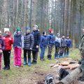 Лесной сбор волоколамского отряда БПС в Сочельник.